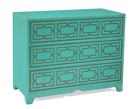 John Richard Collection - Regatta Blue Turquoise Chest - EUR-01-0240