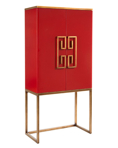 John Richard Collection - Luxe Red Dahlia Cabinet - EUR-04-0339
