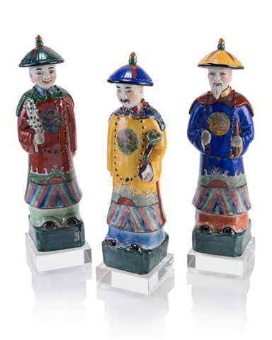 John Richard Collection - Three Fuk Luk Sau In Porcelain - JRA-10057S3