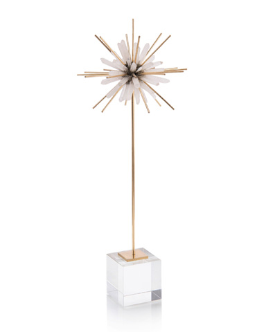 John Richard Collection - Quartz And Brass Starburst On Stand - JRA-10080