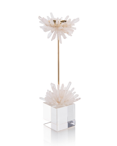 John Richard Collection - Quartz Starburst Candleholder - JRA-10089
