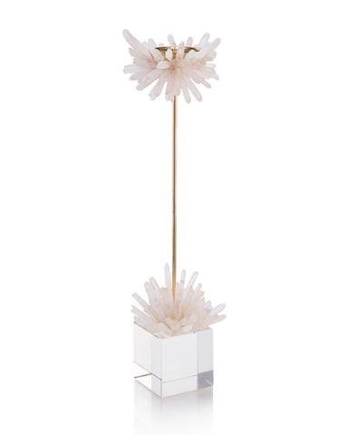 John Richard Collection - Quartz Starburst Candleholder - JRA-10090