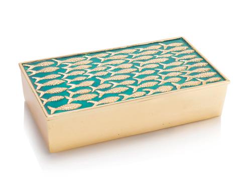 John Richard Collection - Fish On A Turquoise Sea Box - JRA-10117