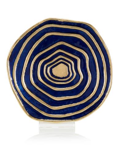 John Richard Collection - Deep Water Blue Charger - JRA-10120