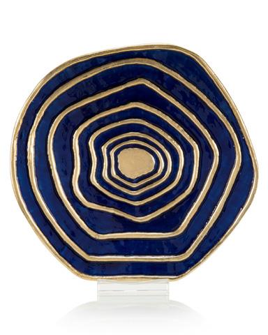 John Richard Collection - Deep Water Blue Charger - JRA-10121
