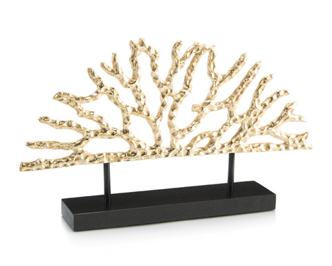 John Richard Collection - Gold Coral Sculpture - JRA-10195