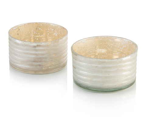 John Richard Collection - Two Ribbon Etched Canisters - JRA-10201S2