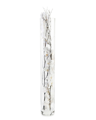 John Richard Collection - Black Bamboo Orchids - JRB-3580W