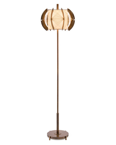 John Richard Collection - Architectural Brass Floor Lamp - JRL-9252