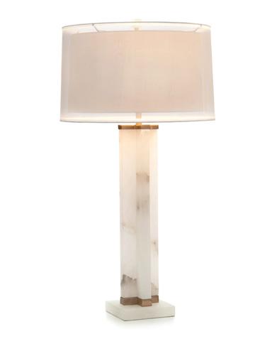 John Richard Collection - Alabaster Cross Table Lamp - JRL-9267