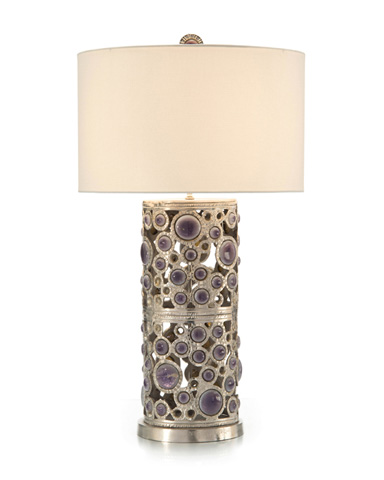 John Richard Collection - Glass Cabochon Table Lamp - JRL-9272