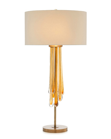 John Richard Collection - Glass Blown Art And Brass Table Lamp - JRL-9300