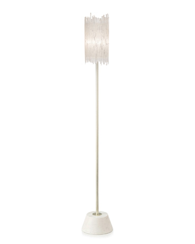 John Richard Collection - Natural Selenite Shaded Floor Lamp - JRL-9302