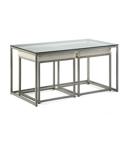 Johnston Casuals - Cubic Cocktail Table with Nesting Bench - 8300-05