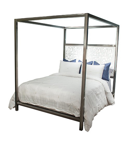 Johnston Casuals - Luxor Queen Canopy Bed - LUX-396