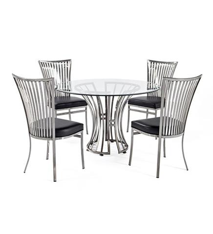 Johnston Casuals - Genesis Simple Dining Set - 2433B/2411/GL49