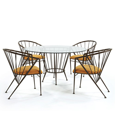 Johnston Casuals - Cambridge Dining Set - 7633B/7615/GL54