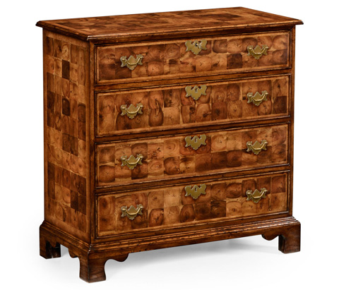 Jonathan Charles - Oyster Veneer Chest of Drawers - 492132