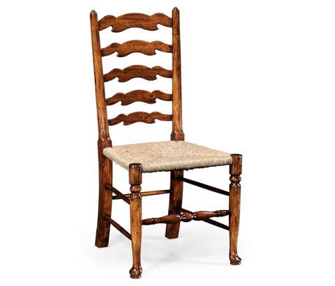 Jonathan Charles - Curved Ladder Back Rush Seat Side Chair - 492296
