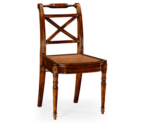 Jonathan Charles - Cross Back Cane Seat Side Chair - 492147