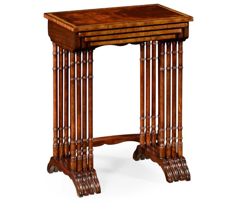 Image of Four Mahogany Nesting Tables