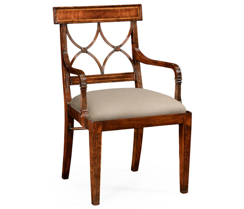 Jonathan Charles - Mahogany Regency Arm Chair - 494346