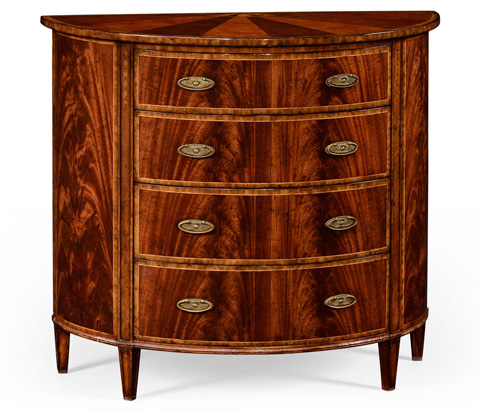 Image of Four Drawer Demilune Chest