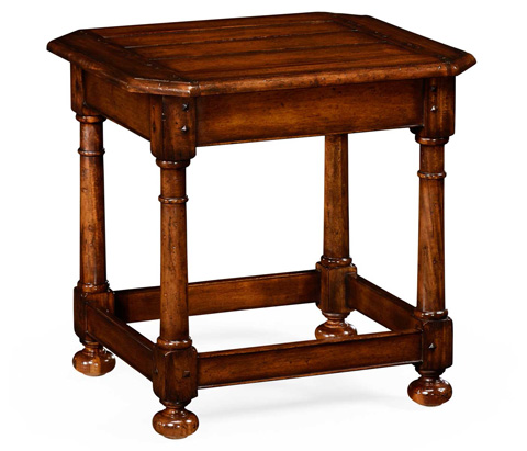 Jonathan Charles - Octagonal Dark Walnut Side Table - 492013