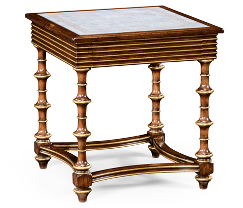 Jonathan Charles - Walnut and Eglomise Side Table - 492071