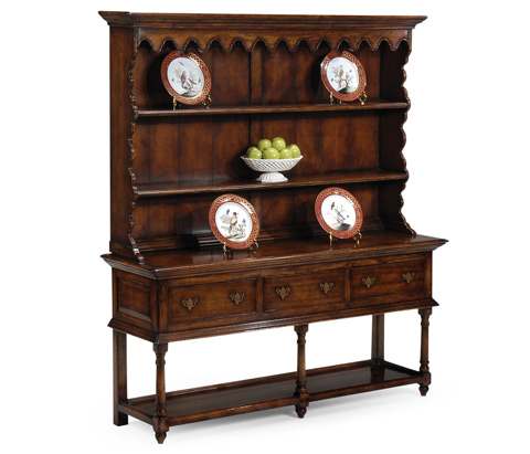 Image of Walnut Country Open Dresser