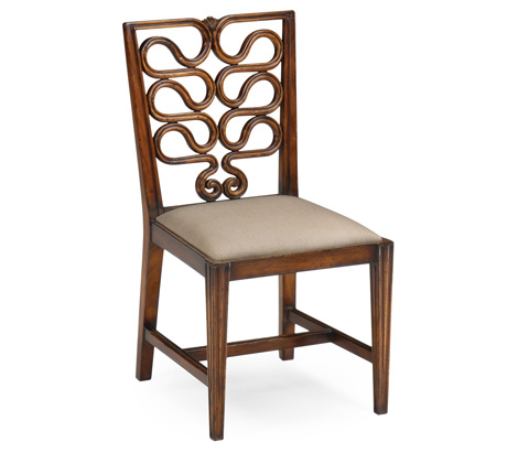 Jonathan Charles - Serpentine Open Back Dining Side Chair - 492288