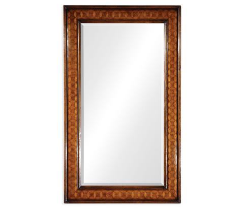 Jonathan Charles - Circular Inlay Rectangular Mirror - 492415
