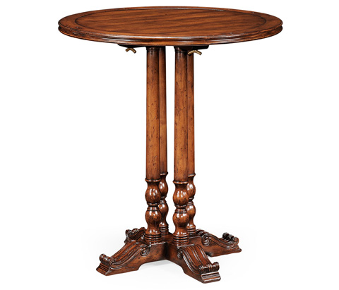 Jonathan Charles - Round Walnut Planked Bar Table - 492435