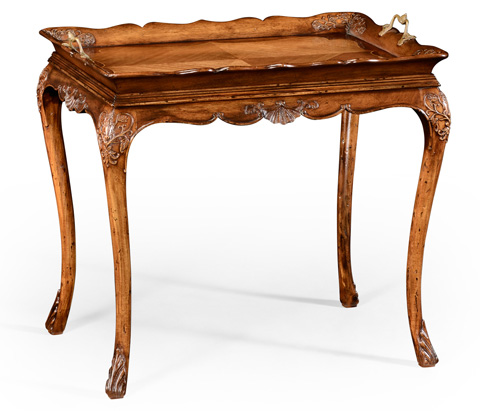 Jonathan Charles - Carved Satinwood Tray Table - 492447