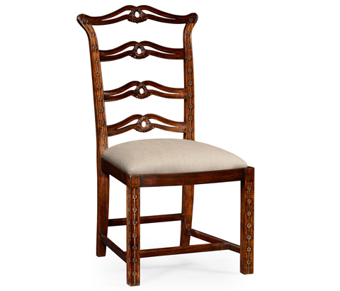 Image of Mahogany Pierced Back Dining Side Chair