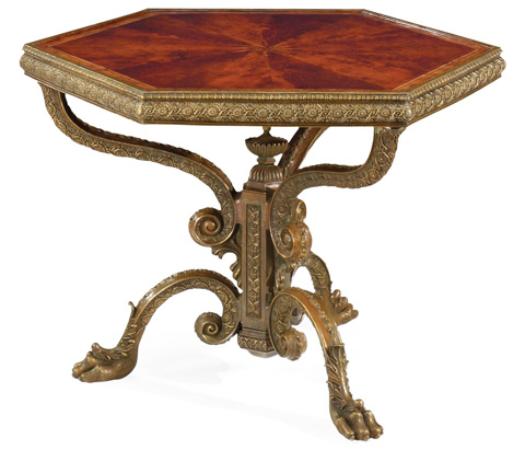 Jonathan Charles - Baroque Brass Centre Table - 492534