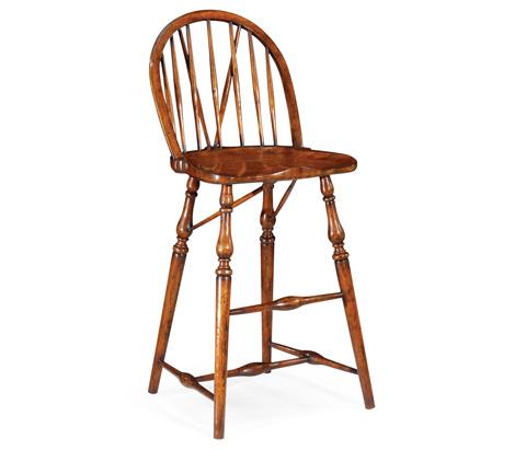 Jonathan Charles - Windsor Style Side Barstool - 492569