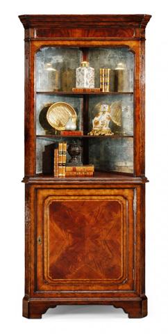 Jonathan Charles - Mahogany Open Corner Cabinet with Cupboard - 492612