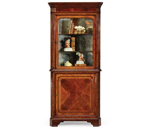 Jonathan Charles - Mahogany Glazed Corner Cabinet with Cupboard - 492613