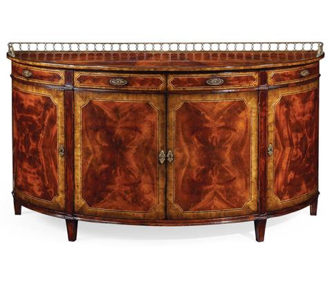 Jonathan Charles - Large Mahogany Demilune Sideboard - 492656