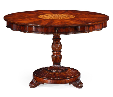 Jonathan Charles - Finely Inlaid Mahogany Centre Table - 492846