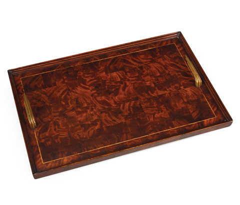 Jonathan Charles - Patchwork Marquetry Art Deco Style Tray - 492863