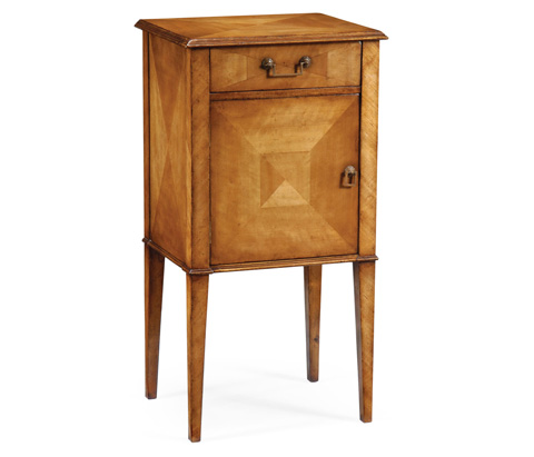 Jonathan Charles - Pair of Satinwood Bedside Cabinets - 492975