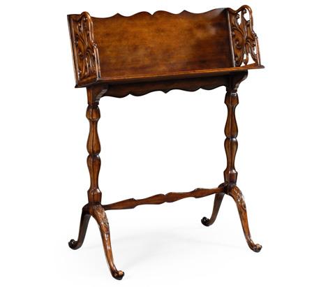Jonathan Charles - Victorian Style Floor Standing Walnut Book Trough - 492996