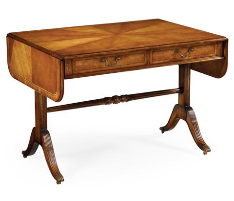 Jonathan Charles - Regency Satinwood Folding Library Table - 493006