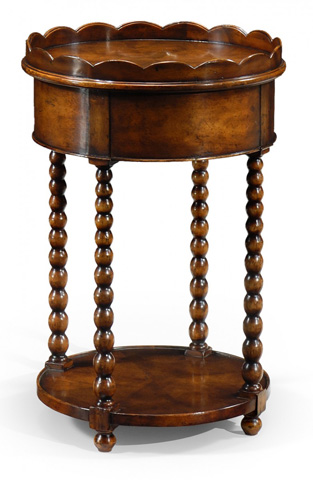 Jonathan Charles - Bobbin Turned Round Lamp Table - 493066