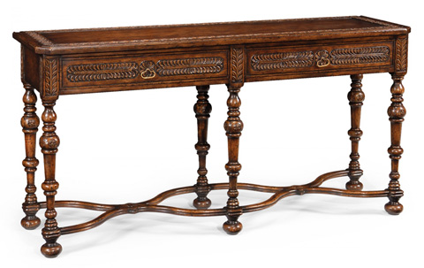 Jonathan Charles - Chip Carved Dark Oak Console - 493099