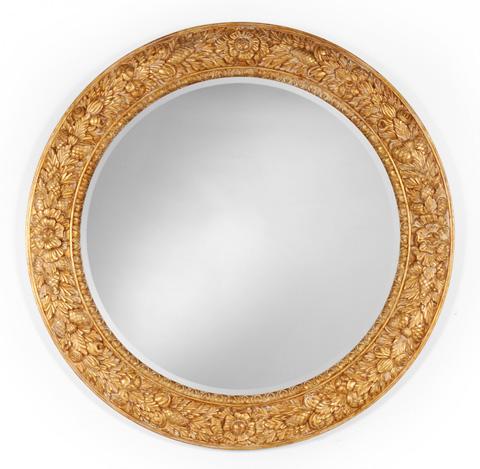 Jonathan Charles - Large Circular Gilded Mirror - 493104