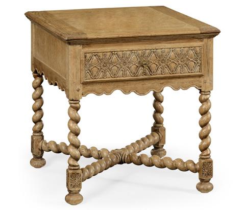 Jonathan Charles - Natural Oak Square Side Table - 493125-L