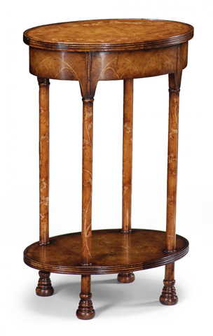 Jonathan Charles - Gothic Walnut Lamp Table - 493249